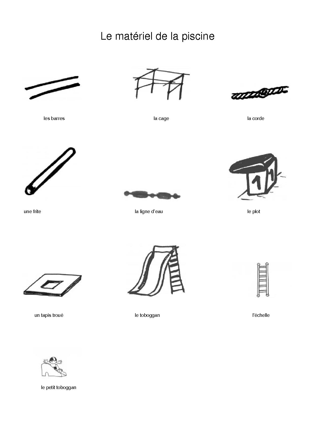 Toutes les images en format planche contact for Materiels piscine